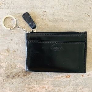 ♥️ Coach ♥️ Black Leather Keychain Wallet